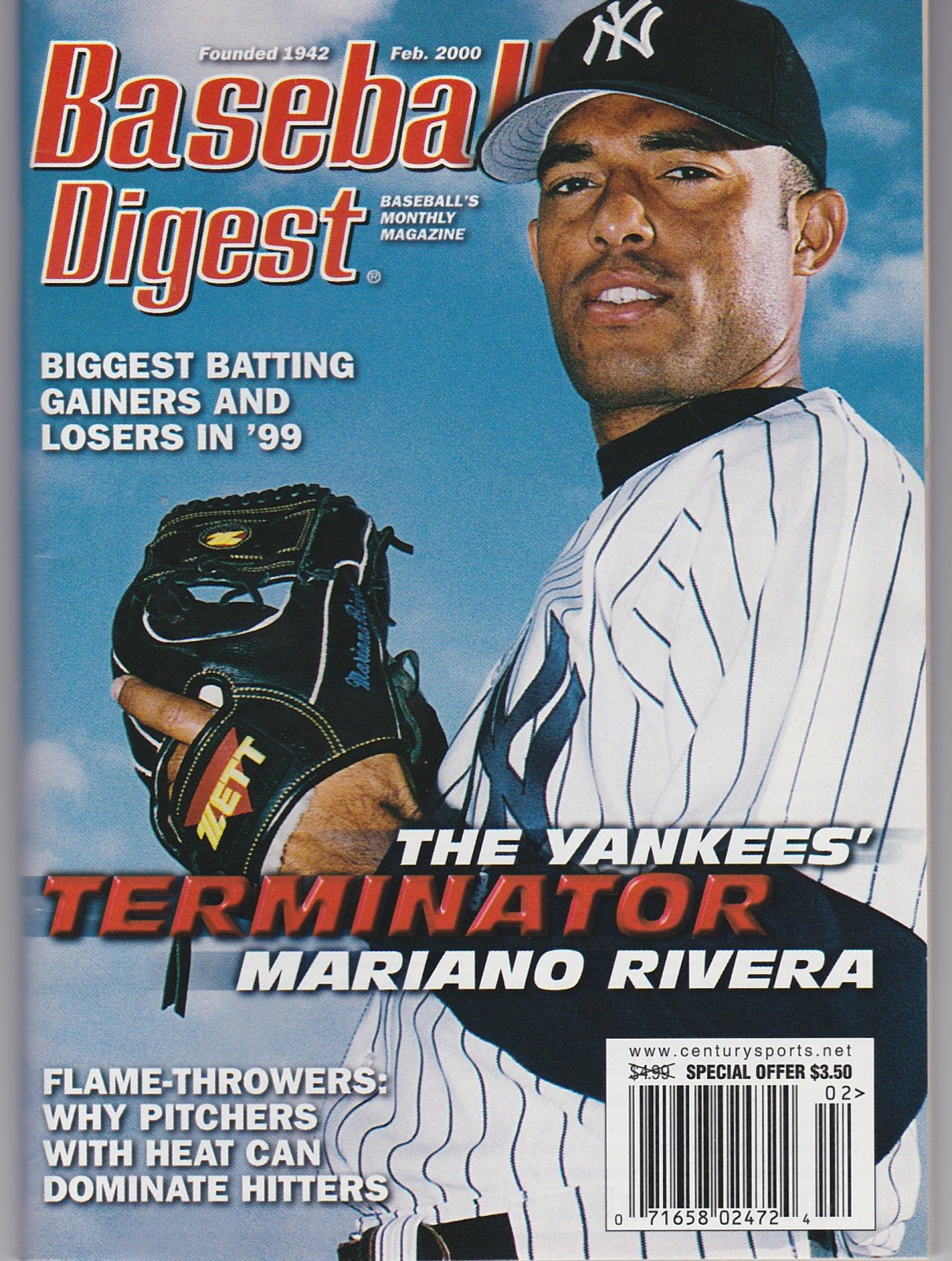 Baseball Digest Baseball's Monthly Magazine Feb. 2000